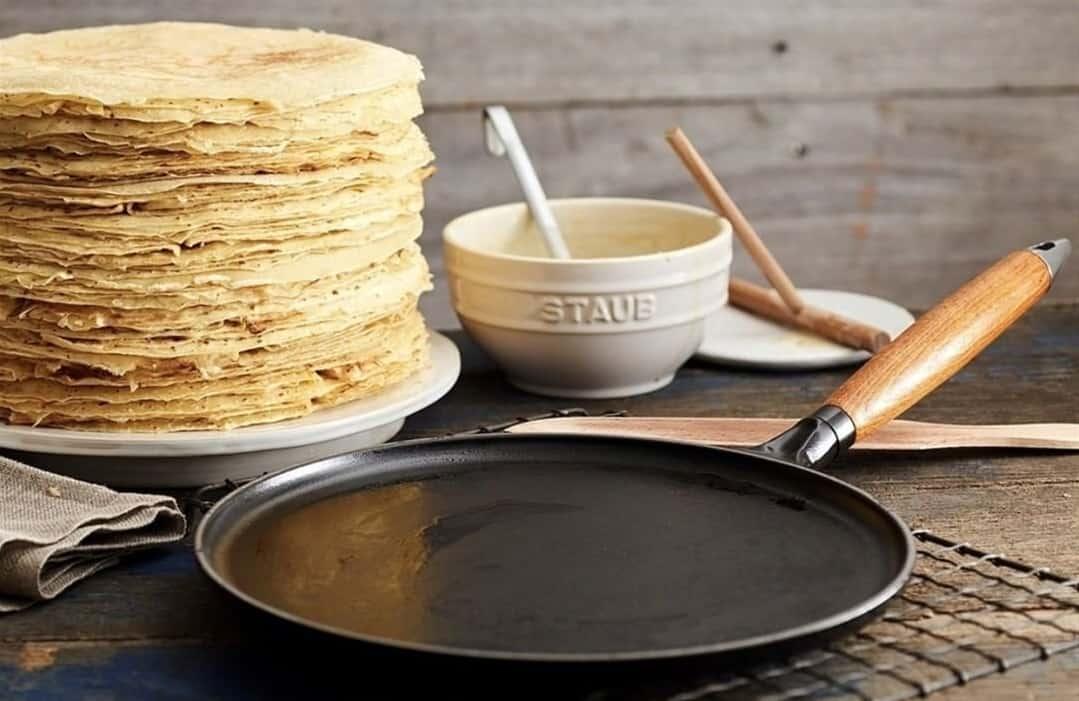 cast iron crepe pan