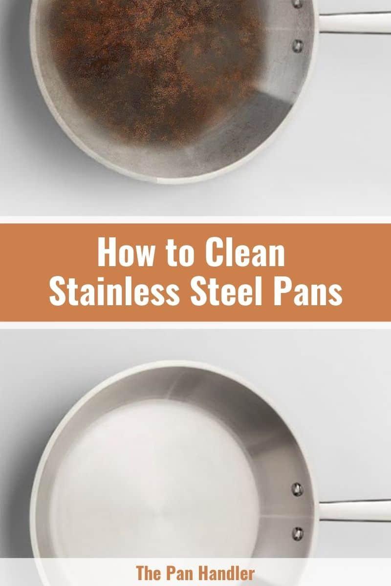 Clean Stainless Steel Pan