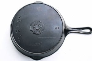 Griswold ERIE spider skillet, mfd. in Erie, PA in around 1906.