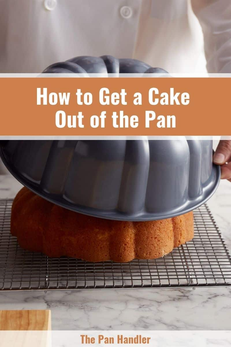 how to get a stuck cake out of the pan