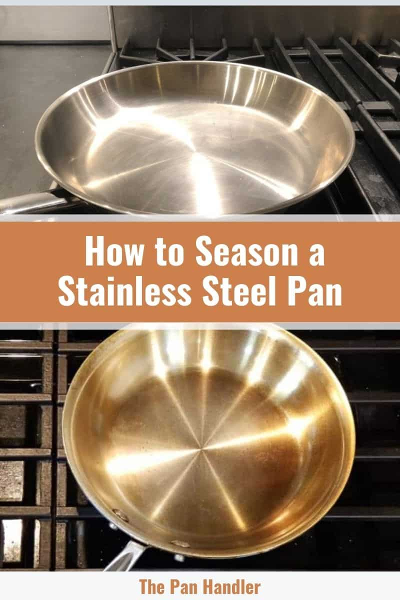 how to season stainless steel pan