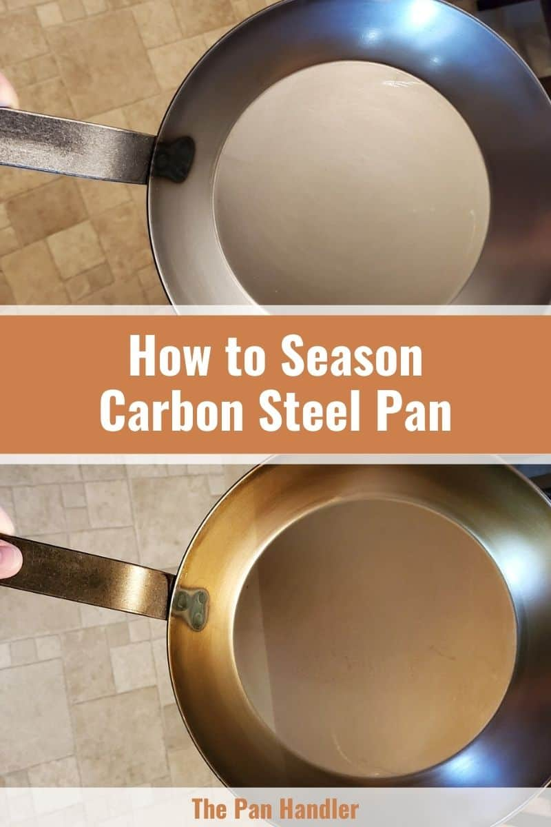 season carbon steel pans