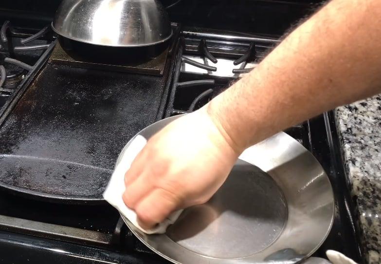 seasoning steel pans