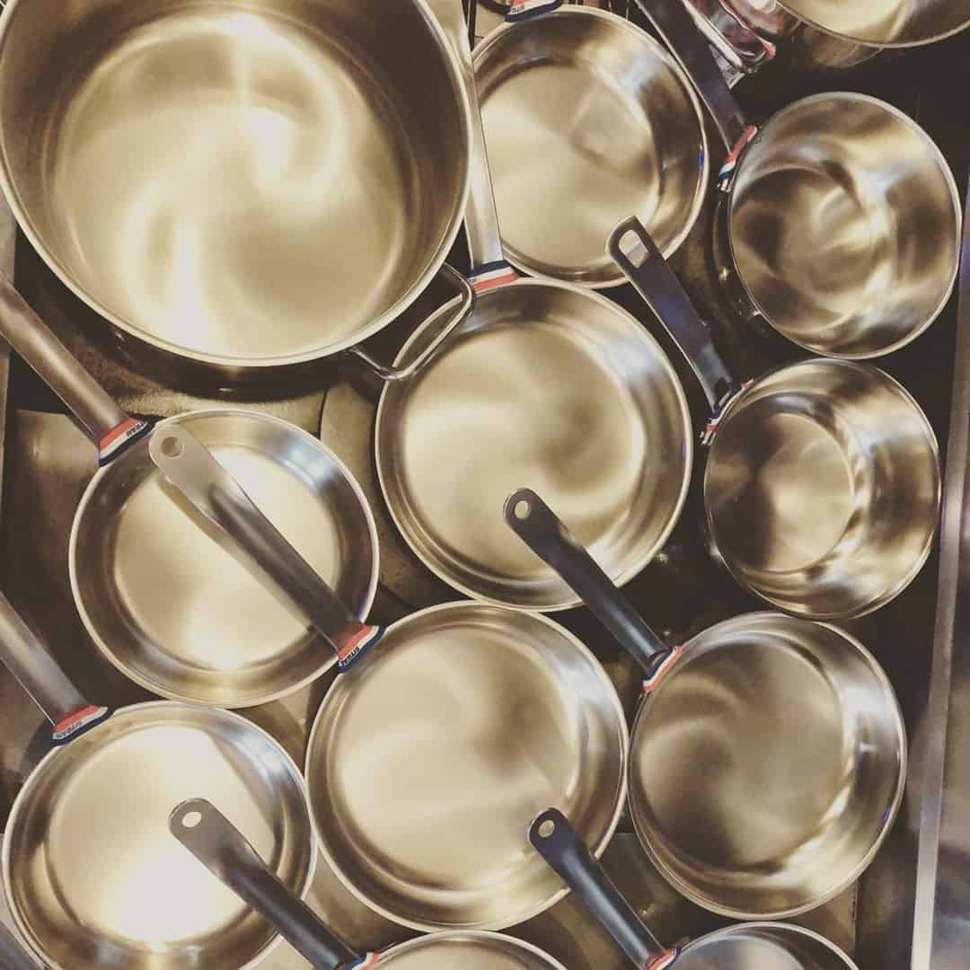 stainless steel saute pans
