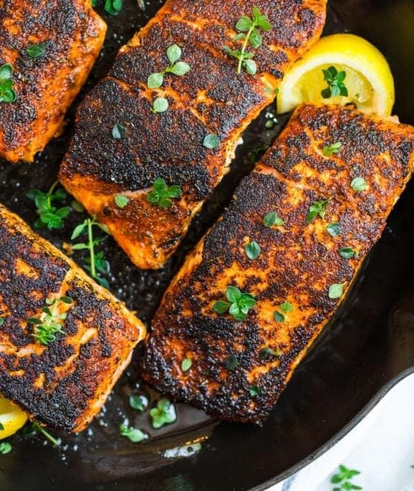 Blackened Salmon Filets