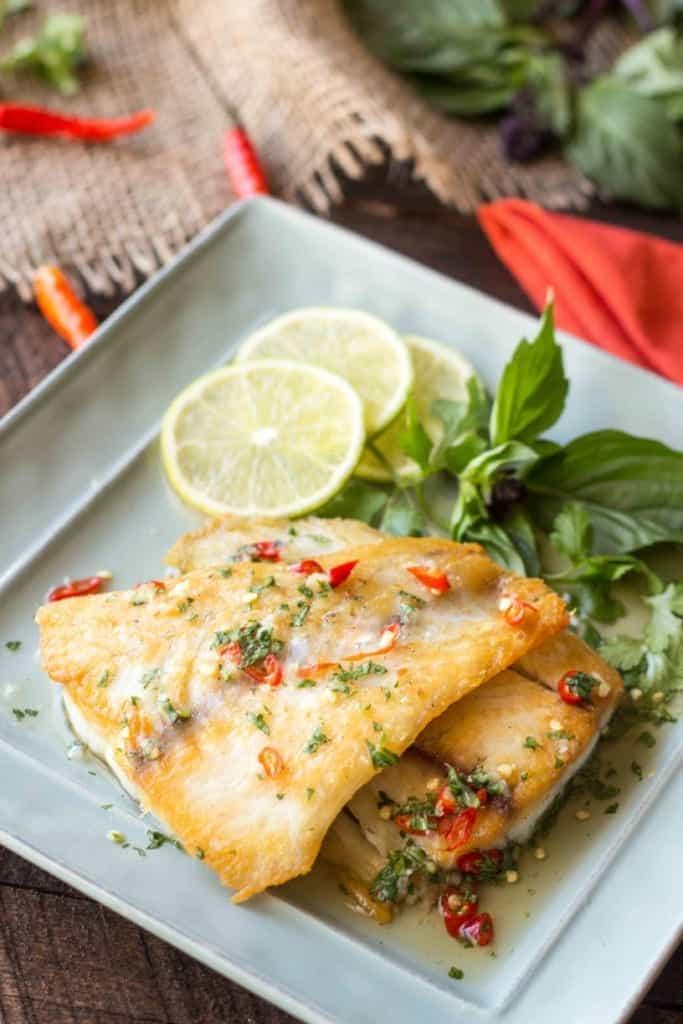 Crispy Barramundi with Fish Sauce Vinaigrette