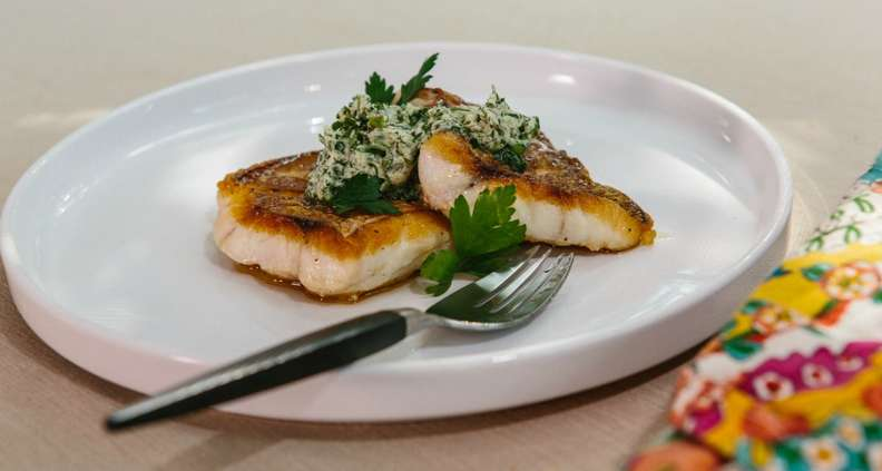 Pan-Roasted Fish Filets with Herb Butter