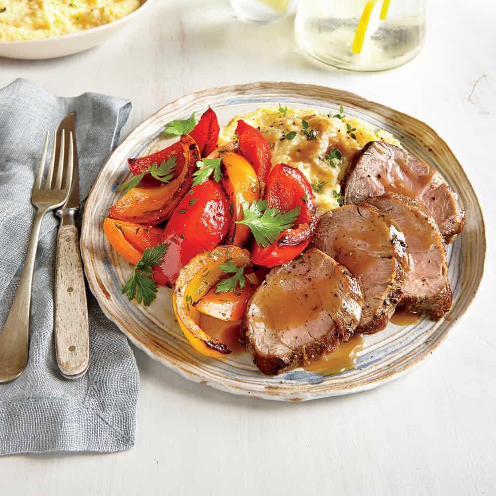 Roasted Pork Tenderloin with Peppers