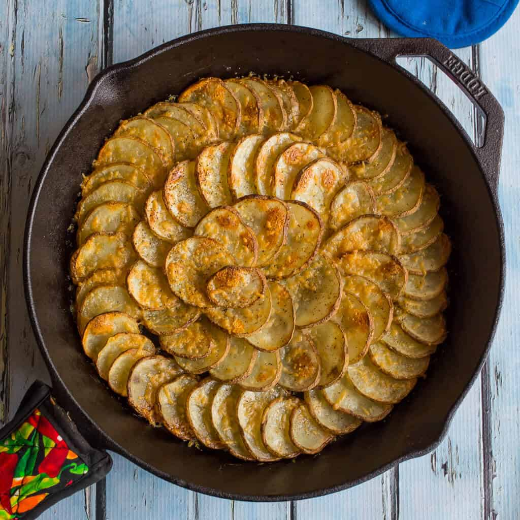 Spiral Skillet Potatoes