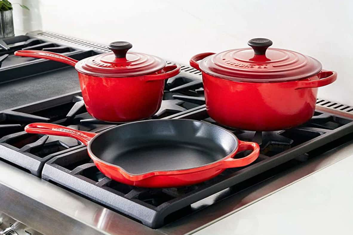 cooking with enameled cast iron