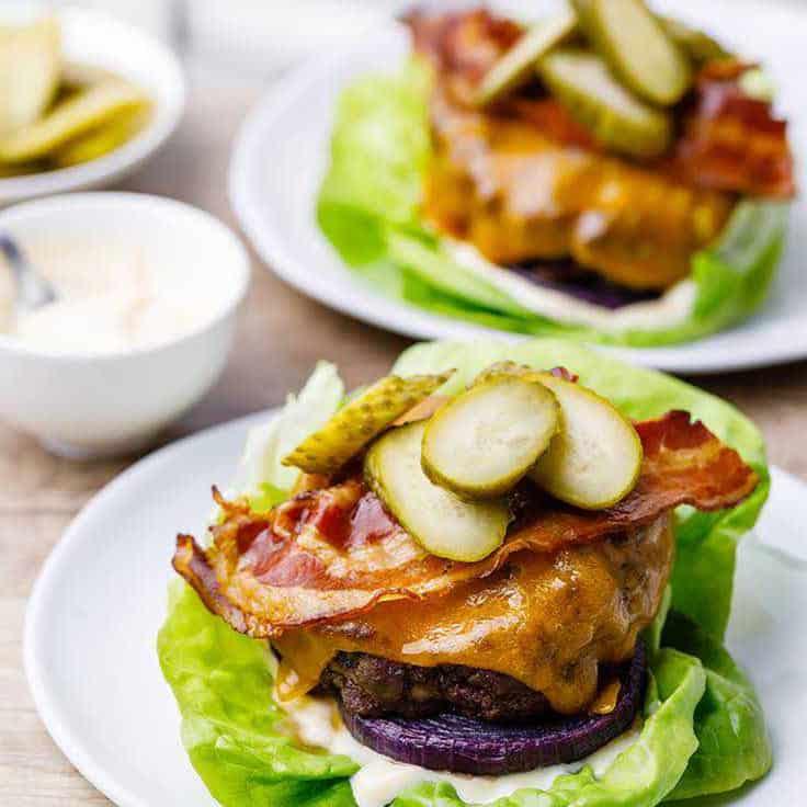 Bunless Sheet Pan Keto Burgers