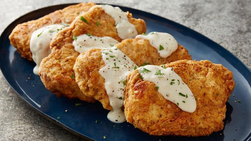 Chicken-Fried Pork Chops with White Gravy