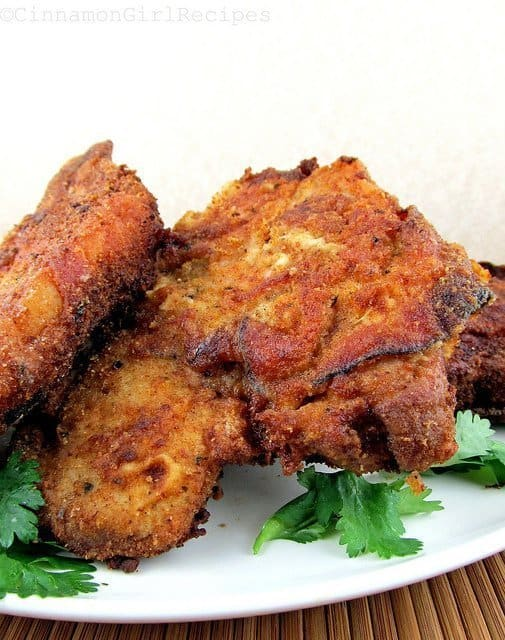Fried Pork Chops Wrapped in Ham