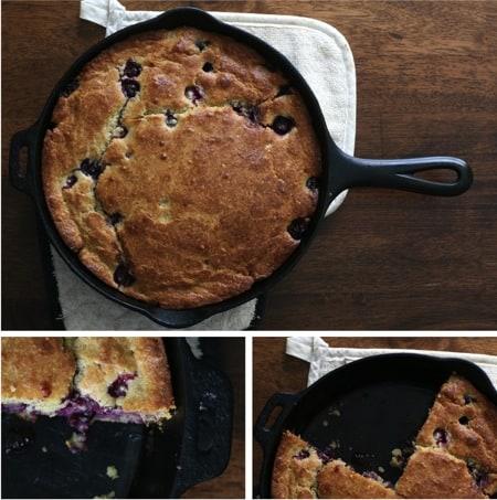 Homemade Blueberry Skillet Cake