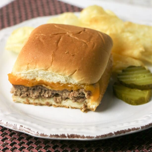 Large Family Easy Sheet Pan Cheeseburger Sliders