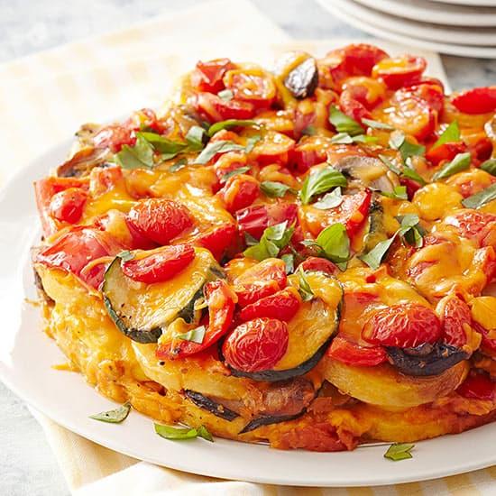 Polenta and Vegetable Torte