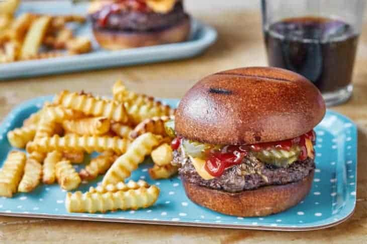 Sheet Pan Burgers and Fries