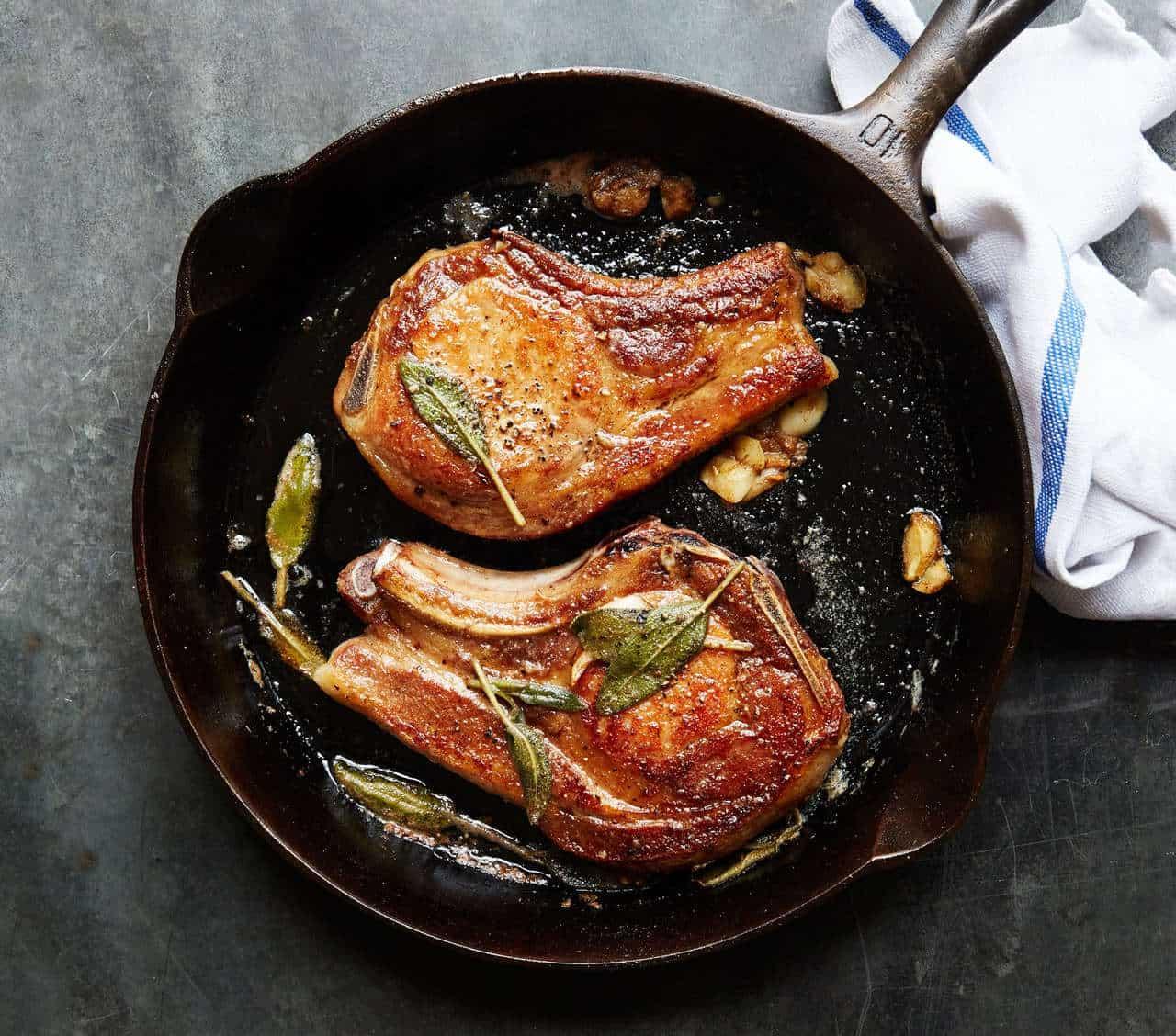 Simple Sage & Butter Pork Chops
