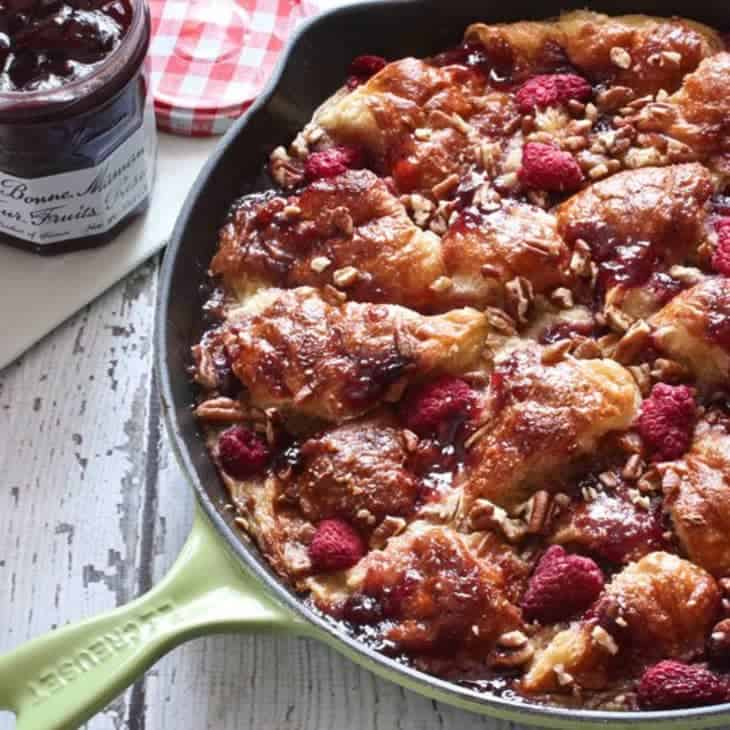 Skillet French Toast and Preserves Casserole