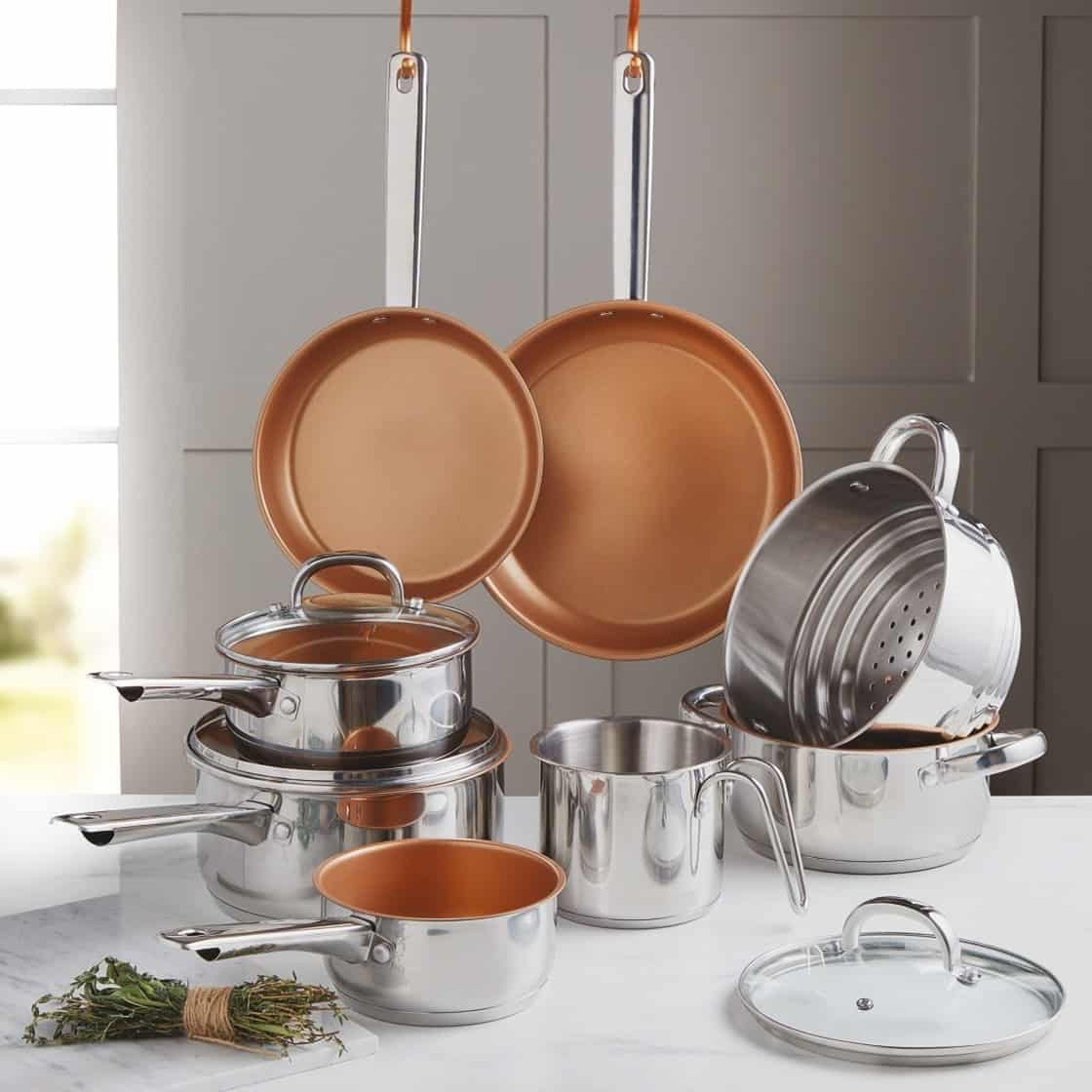 are red copper pans safe