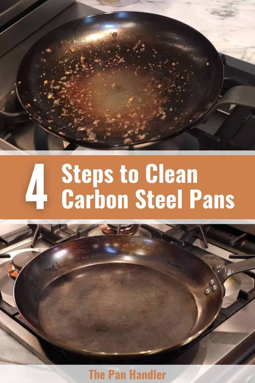 how to clean a steel pan