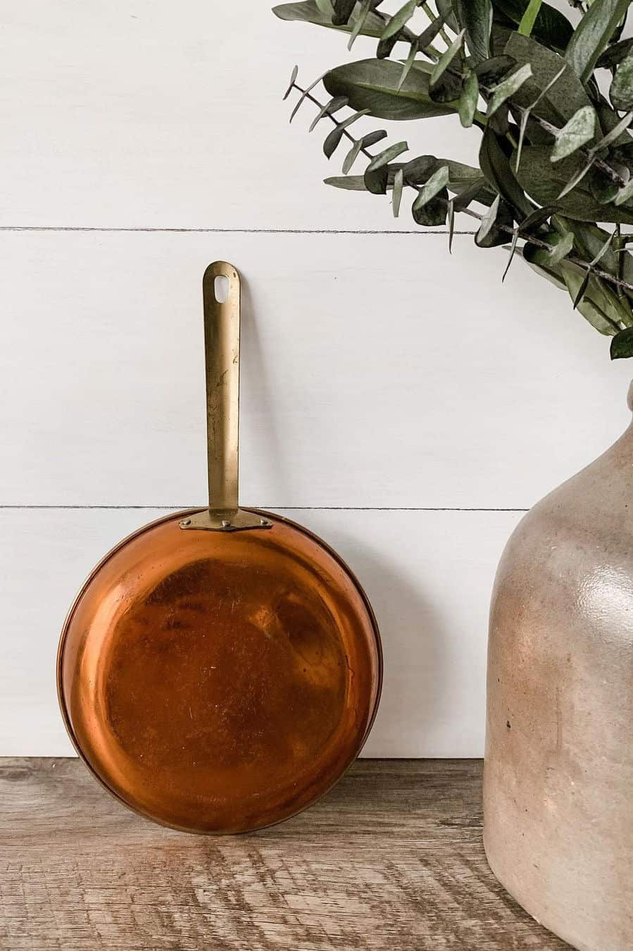 how to clean copper chef pans inside