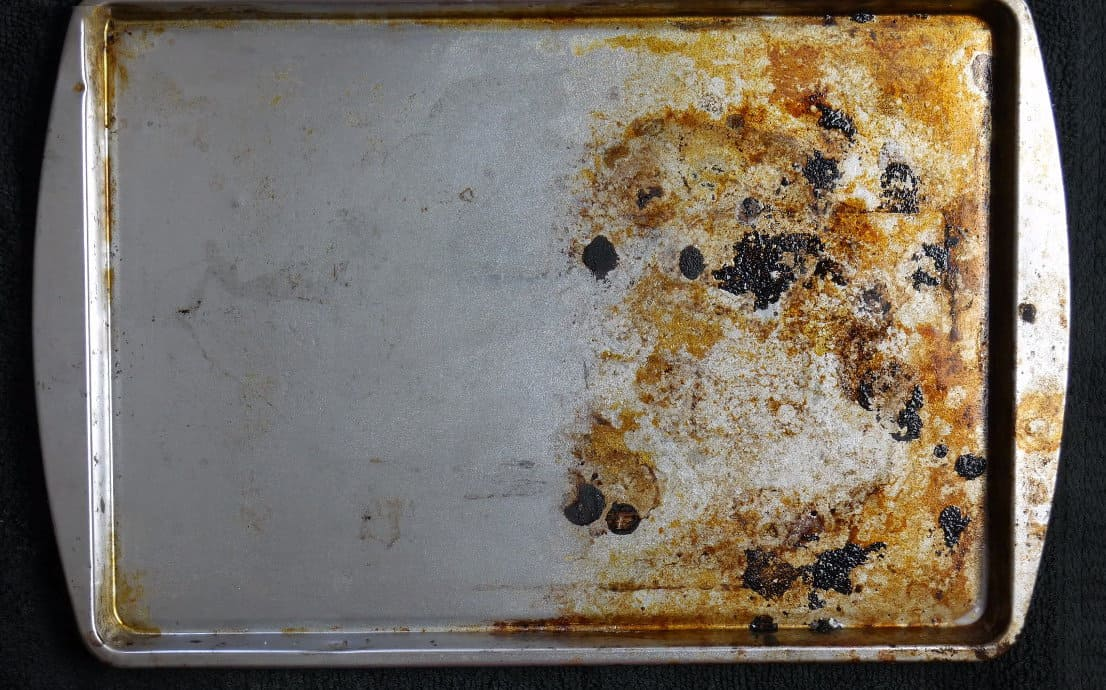 how to clean sheet pan