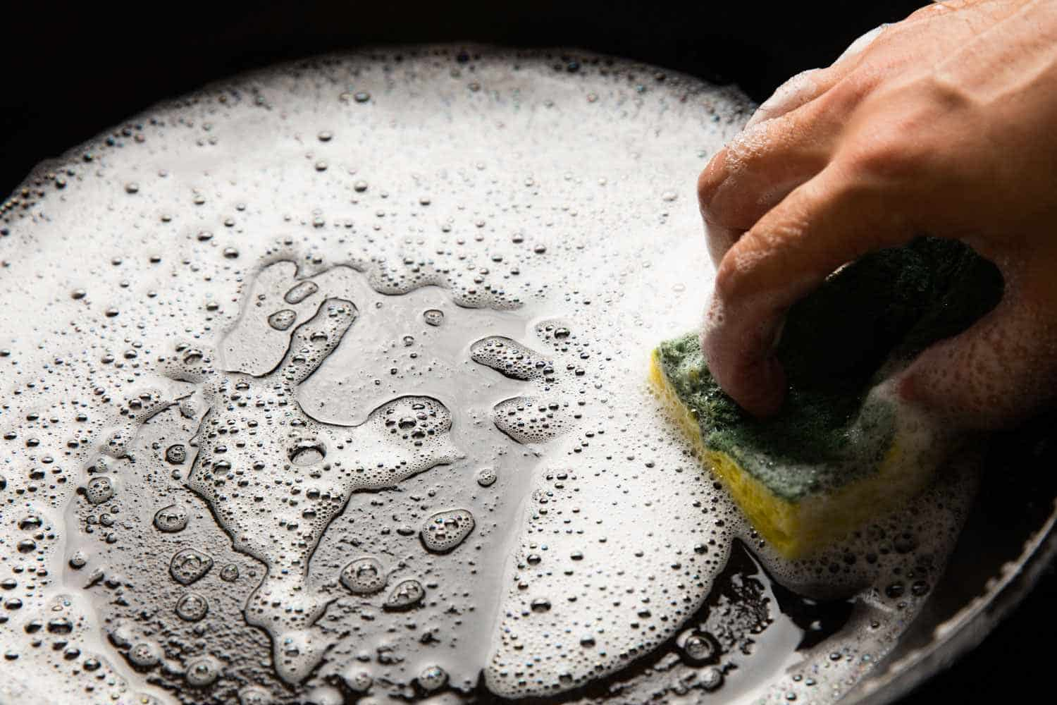 maintaining both carbon steel and cast iron pans