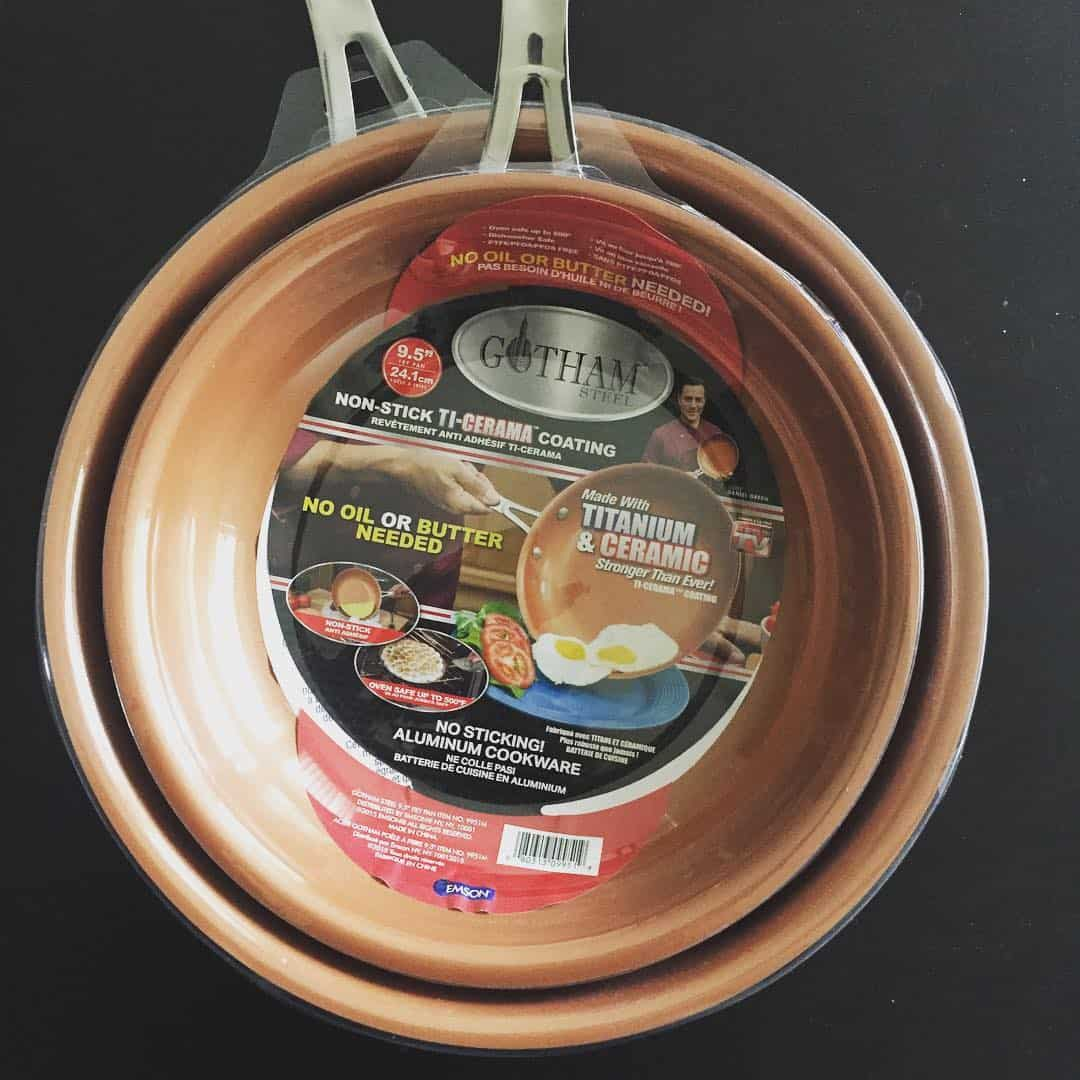 red copper pan vs gotham steel pan