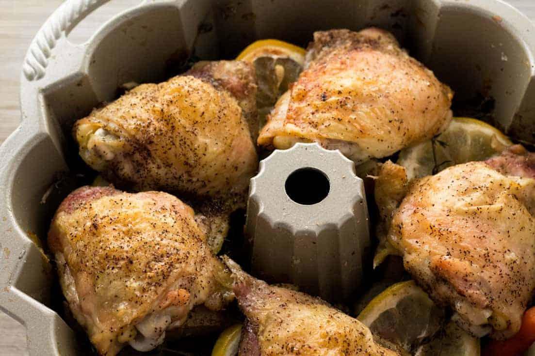 Easy Peasy Lemon-Thyme Bundt Pan Chicken