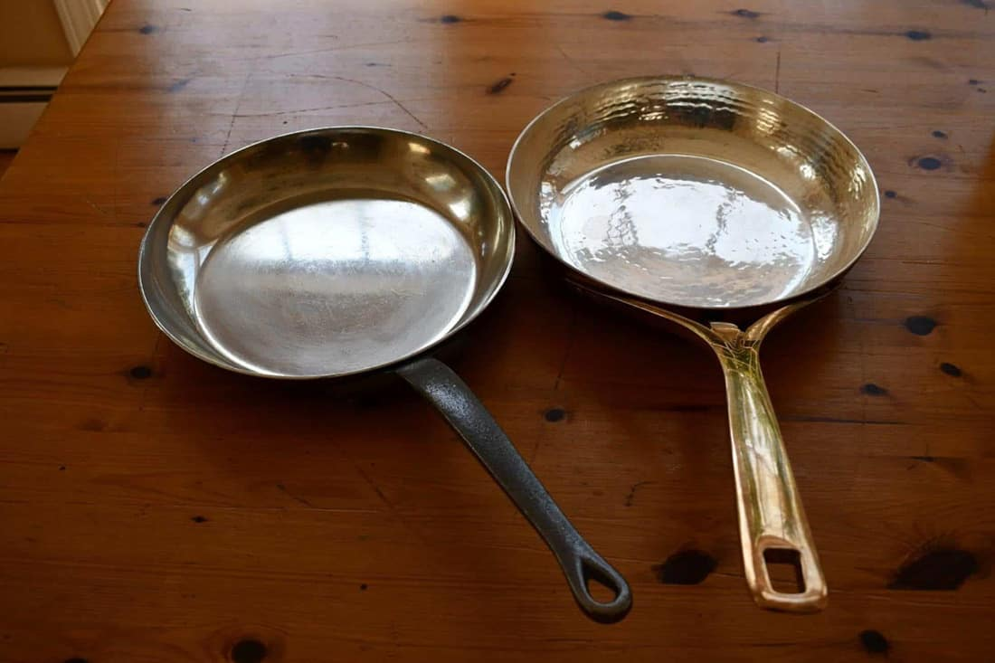 Silver Lining Copper Pans