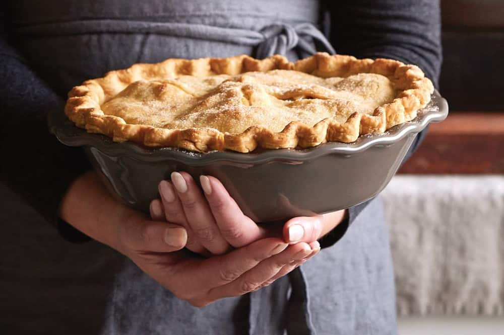 how to measure a pie pan