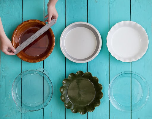 how to measure a pie plate