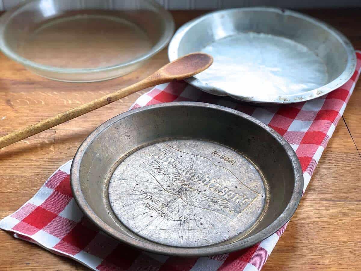 how to measure pie pan