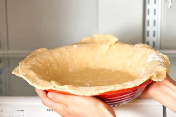 pie crust sticks to pan