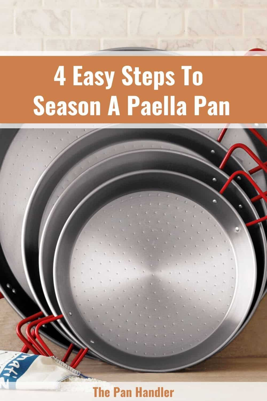 seasoning a paella pan